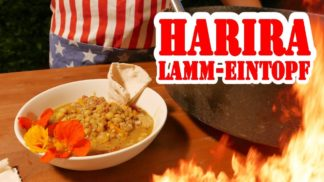 Pulled Lamm Eintopf / Harira - Dutch Oven BBQ Rezept Video - Die Grillshow 253