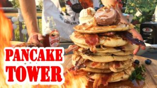 Bacon-Pancake-Tower | Johnnys Breakfast | BBQ Grill Rezept Video - Die Grillshow 259